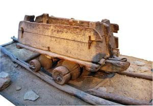 Деревянная вагонетка