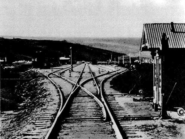 Сдвоенный стрелочный перевод на станции Гродеково Уссурийской железной дороги. 1900