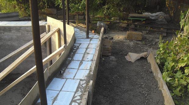 фрагмент строительства бассейна и набережной